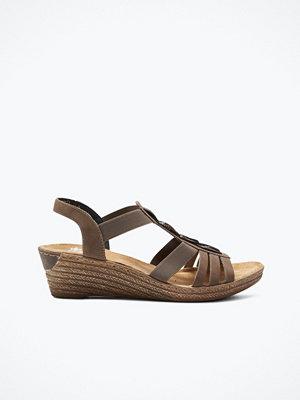 Sandaler & sandaletter - Rieker Sandaler med flätad dekor