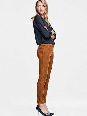 Esprit bruna byxor Stretchbyxa i mockalook, slim fit