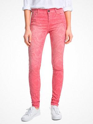 Esprit rosa mönstrade byxor Byxa med jaquardmönster