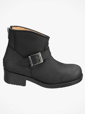 Johnny Bulls Short Biker boots av skinn