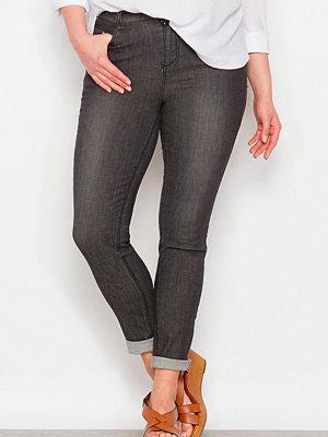 La Redoute Slim jeans med stretch, slank silhuett, beninnerlängd 78 cm