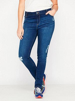 Jeans - Castaluna Smala jeans med slitna effekter