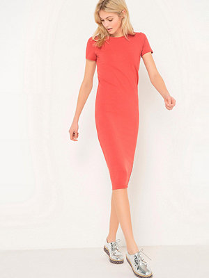 La Redoute Knälång klänning med kort ärm
