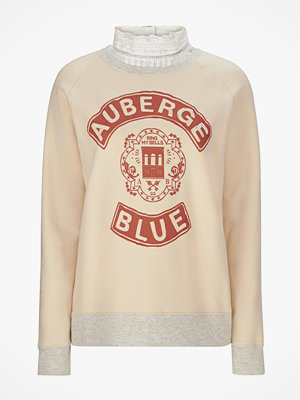 Tröjor - Maison Scotch Sweatshirt med spetskrage