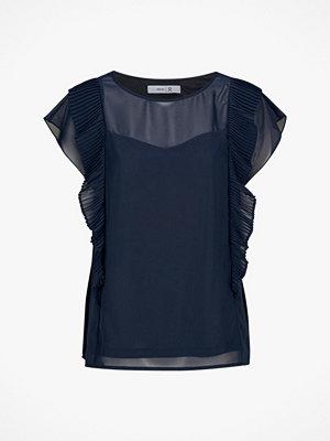 La Redoute Blus med plisserad volang