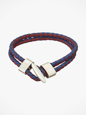 Saddler smycke Läderarmband, flätat