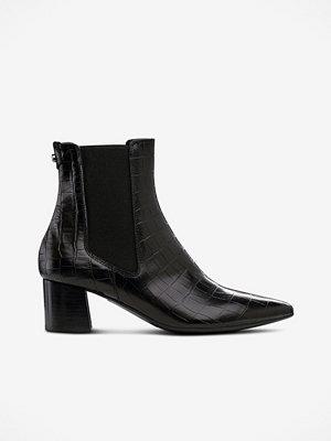 Boots & kängor - Billi Bi Boots i skinn med krokomönster
