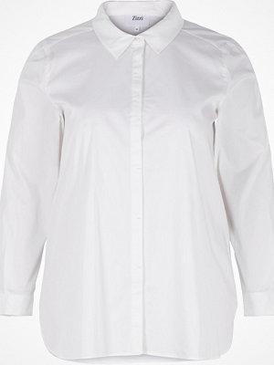 Zizzi Skjorta med dolda knappar