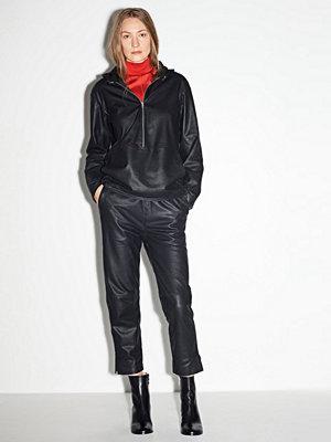 J. Lindeberg svarta byxor Skinnbyxa Sonnet Sporty Leather