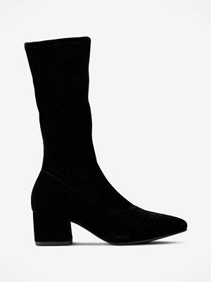 Vagabond Boots Mya i sammet med stretchskaft