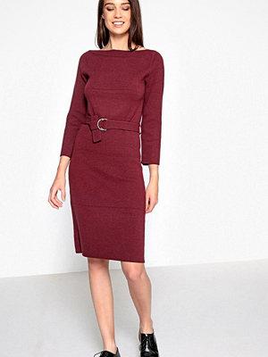 La Redoute Stickad klänning med bälte