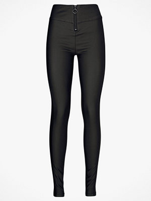 Vero Moda Byxor vmSupreme Super Slim Coated Pants svarta