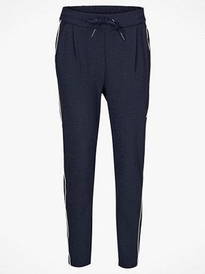 Vero Moda Byxor vmEva MR Loose String Track Pants marinblå