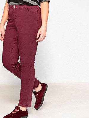 La Redoute Smala byxor i 5-ficksmodell vinröda