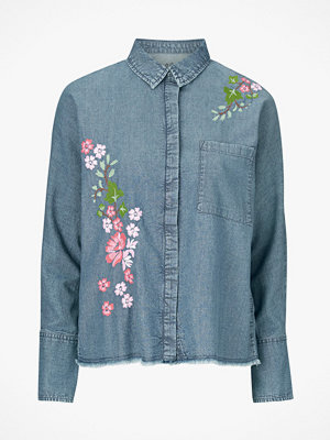 Esprit Skjorta Denim Embro Blouse