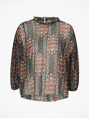 Hunkydory Blus Floral Pleat Blouse