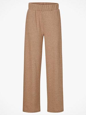 Vila Byxor viLune Wide Knit Pant beige