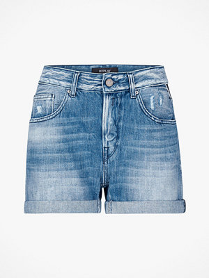 Replay Jeansshorts med uppslag