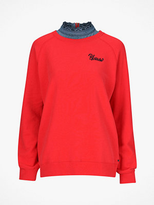 Maison Scotch Sweatshirt med bluskrage