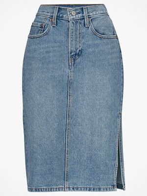 Kjolar - Levi's Jeanskjol Side Slit Skirt Blue Waves