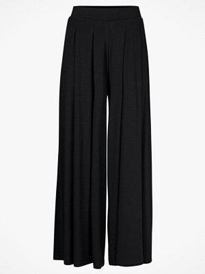 Vero Moda Byxor Long Wide Pants svarta