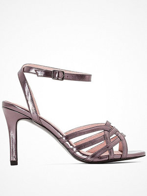 La Redoute Sandaletter med metallicfärgade remmar