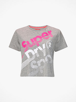 Superdry Träningstopp Hyper Sport Label Crop Tee