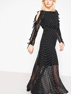 La Redoute Lång, prickig klänning med vacker ärm