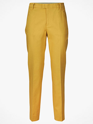 Noa Noa Byxor Basic Stretch - Long gula