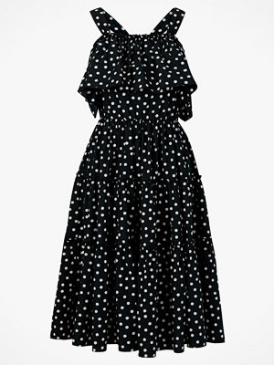 Vero Moda Klänning vmLoka Dot Cold Shoulder Calf Dress
