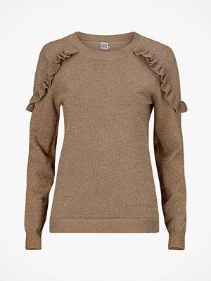 Saint Tropez Jumper Glitter Sweater Ruffles