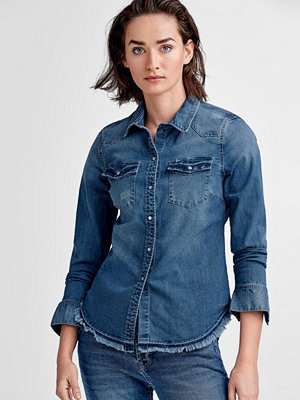 Vero Moda Jeansskjorta vmLea LS Fitted Raw Denim Shirt