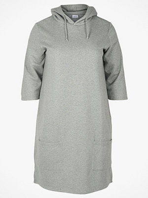 Zizzi Sweatshirtklänning Ewip 3/4 SL Sweat