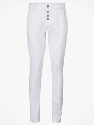 Cream vita byxor Byxa Bailey Twill Pant