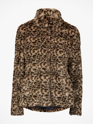 Saint Tropez Fuskpäls Faux Fur Leopard Jacket