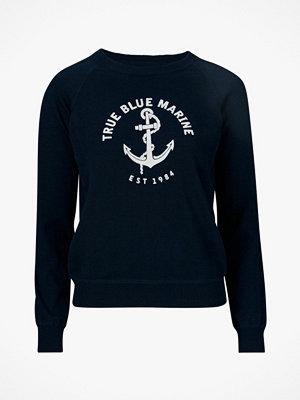 Park Lane Stickad tröja med sammetstryck