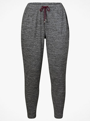 Zizzi Sweatshirtbyxor med dragsko grå