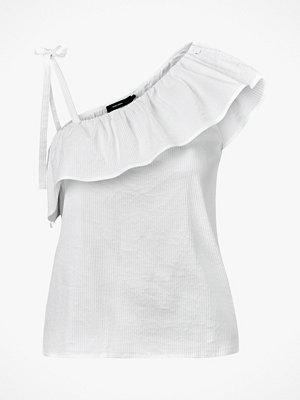 Linnen - Vero Moda Topp vmSia Shoulder Frill Top