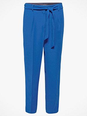 Esprit Byxor i crepekvalitet blå