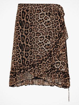 Saint Tropez Omlottkjol Leopard Print Wrap Skirt