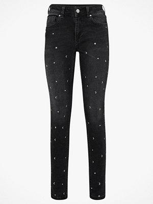 Ellos svarta byxor Jeans Thea Studs