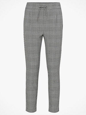 Vero Moda Byxor vmEva Mr Loose String Checked Pants grå rutiga