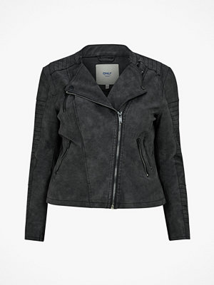 Only Carmakoma Bikerjacka carAvana Faux Leather