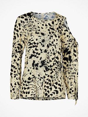 Valerie Blus Bow Blouse, leopardmönstrad