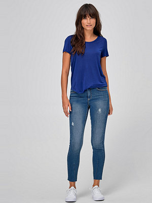 Ellos Jeans Neema Distressed Slim Cropped