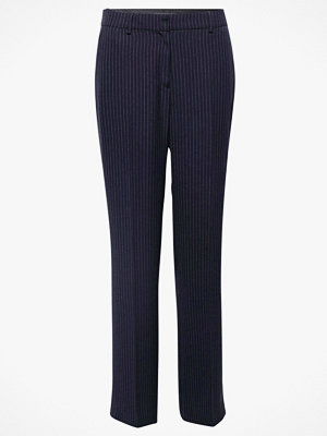 Esprit marinblå randiga byxor Pants Wideleg