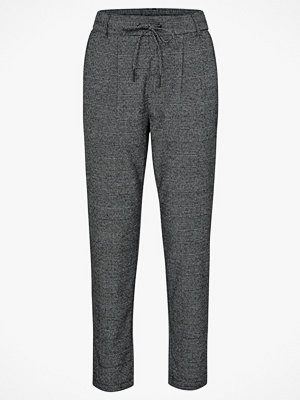 Only Byxor onlPoptrash Soft Check Pant grå