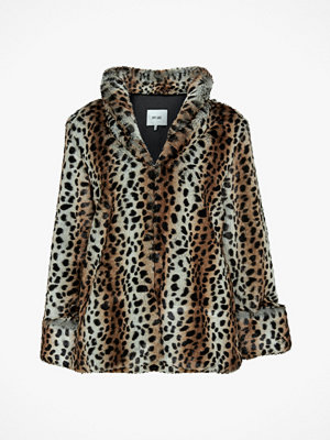 Dry Lake Fuskpäls Smoothie Jacket, leopardmönstrad