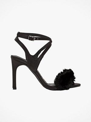 Sandaler & sandaletter - La Redoute Sandaletter med hög klack och detalj i syntetpäls
