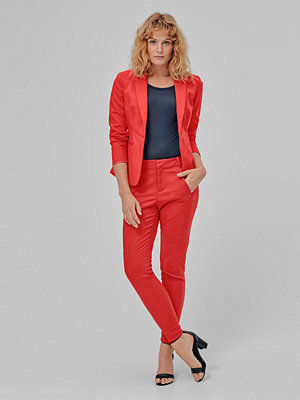 Vero Moda Byxor vmVictoria MR Antifit Ankle Pants röda